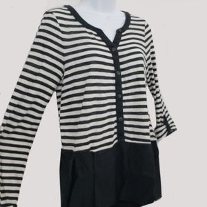 Postmark Black and White Layered Style Top Size M